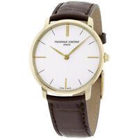 Frederique Constant Slimline Quartz Movement White Dial Men's Watch FC-200V5S35