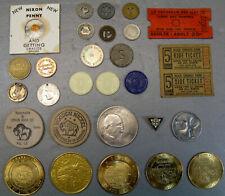 Mixed Lot ~ Transit Tokens  Tickets  Trade Dollars  Novelties ~ Vintage