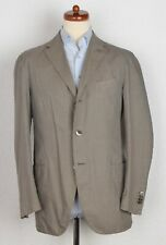 Boglioli COAT Sakko Jacket Gr 52 Baumwolle Cotton Grau Streifen Made in Italy
