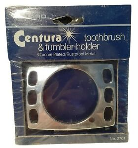 Vintage Melard Centura  Toothbrush & Tumbler Holder Chrome Plated Wall Mount NOS