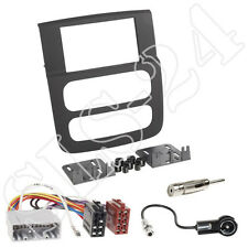 Dodge RAM (DR) ab 2002 2-DIN Autoradio Blende+ ISO Adapter Einbau Komplett-Set