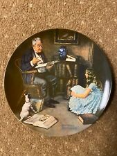 """New ListingNorman Rockwell's """"The Story Teller"""" collector's plate, 1984, Knowles china,"""