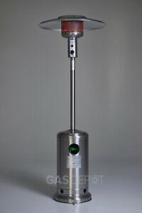 [GRADE C] REALGLOW Umbrella Gas Patio Heater 13kw in Stainless Steel