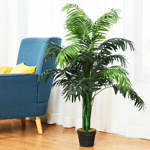 CheerGreen Artificial Plants Fake Plant Areca Palm Tree Plant in Pot Fake Yellow Palm 5.2 feet Faux Plants for Home Office Indoor Outdoor Modern Decor Housewarming Gift 2 Pack