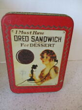 "VINTAGE ADVERTISING TIN ""OREO SANDWICH"", NATIONAL BISCUIT COMPANY"
