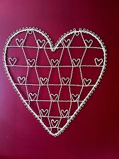Sass & Belle Shabby Chic Cream Heart Wire Photo Card Holder Wedding Board Gift