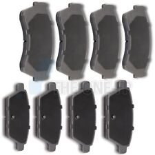 Front and Rear Ceramic Discs Brake Pads For 2006-2012 Ford Fusion Performan 8pcs