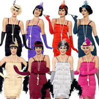 Short Flapper Girl Womens Fancy Dress 1920s 20s Charleston Ladies Adults Costume