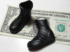 "1/6 scale Dragon 12"" action figure US modern Army black rubber type boots vinyl"