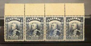Sarawak 1934 15c X4 Mint Block