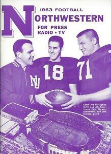 1963 Northwestern Football Media Guide CHOF HC Ara Parseghian AC Alex Agase