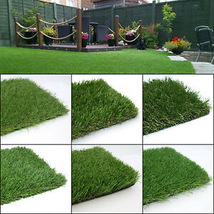 Realistic Natural Looking Garden Lawn Artificial Grass   Free Shipping   Sample