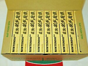 NEW Carton BOX Set of 10 Nintendo 64 Saikyo Habu Shogi Japanese Chess N64 JAPAN