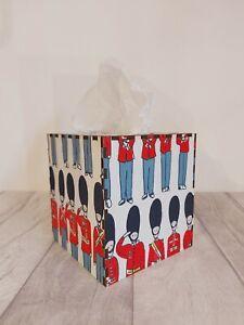 Tissue Box Cover Made W/ Cath Kidston London Guard Fabric Cube Square