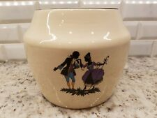 RARE Bennett Bakeware SILHOUETTE COURTING COUPLE Covered Cookie Jar VINTAGE