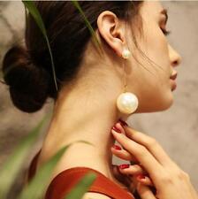 Women's Elegant Big Simulation Pearl HOOK Dangle Drop Long Tassel Earrings Gift
