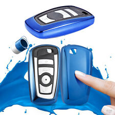 For BMW 1 3 4 5 6 7 X1 X3 Series TPU Smart Remote Key Fob Case Cover Shell Blue
