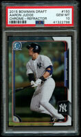 Aaron Judge 2015 Bowman Chrome Draft Refractor PSA 10 Gem Mint #150