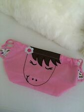 """Pottery Barn Kids My First Treat Bag Embroidered """"Zoey"""" Horse"""