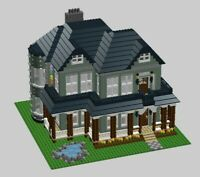 LEGO Custom Huge House MOC INSTRUCTIONS AND PARTS LIST ONLY PDF