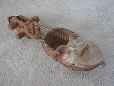 Vintage Hand-carved Sarangi  Stringed Instrument from Nepal