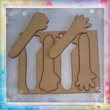 Plantilla para manos de fofuchas de 10cm de largo cada mano, dos modelos.