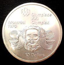 pièce CANADA 10 Dollars $ 1974 XXI Olympiade Jtête de ZEUS MONTREAL 1976