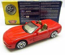 * 1/64 * Motor Max * Chevrolet Corvette Convertible * Red Super Wheels * MIB *