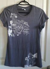 ROXY Gray Womens Floral T Shirt (Size L)