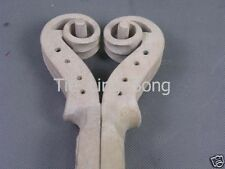 2pcs Baroque style violin scroll 4/4 , made of the maple,instrument part