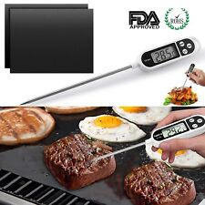 AU Instant Read Digital Food Meat Thermometer BBQ Grill Mats for Kitchen Cooking