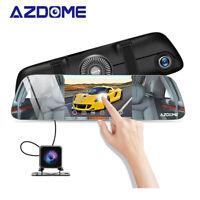 5.5'' HD Mirror Dash Cam Azdome Dual Recorder Touchscreen Front Rear View Camera