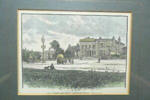 The Horse and Well Woodford Wells antique engraving 1888