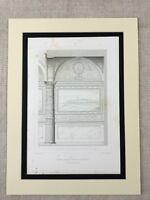 1857 Antique Print Florence Italy Architecture Palazzo Vecchio Renaissance