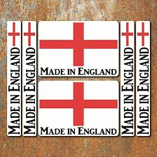 Made in England Laminated Sticker Set Small Car Motorbike Union Jack Decal