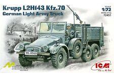 ICM 72451 1/72 Krupp L2H143 Kfz. 70 Protze German Light Army Truck