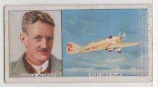 New Zealand Malcolm McGregor World War I Flying Pilot Flying 1930s Trade Ad Card