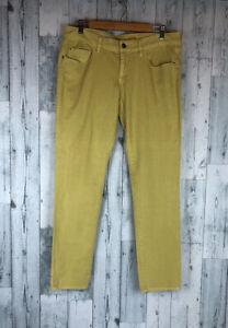 Anthropologie Pilcro Stet Jeans Size 31 Skinny Leg Mid Rise mustard yellow
