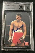 MUHAMMAD ALI 1991 ALL WORLD BOXING CARD SIGNED AUTOGRAPHED BECKETT BAS GRADE 10