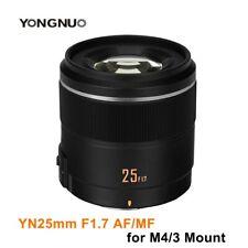 Yongnuo YN25mm F1.7M AF/MF Large Aperture Prime Lens For M4/3 Olympus Panasonic