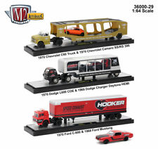 Auto Haulers Release 29, 3 Trucks Set 1/64 Diecast Models M2 Machines 36000-29