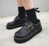 Womens Vintage Flat Low Heel Creeper Platform Mary Jane Pumps Lolita Shoes Sz2-7