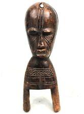 Art Africain - Ancienne Poulie de Métier à Tisser Bété - Côte d'Ivoire - 20 Cms