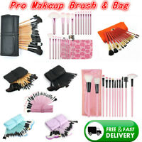 Pro Makeup Brush Tools Beauty Cosmetic Powder Foundation Face Brush & Pouch Bag