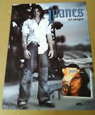 JUANES 2004 Retail PROMO POSTER for Mi Sangre CD Never Displayed USA MADE 24x18