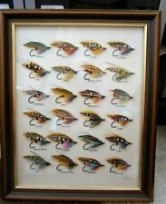 Framed Classic Salmon Fly Picture