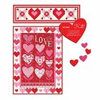 Love+Grows+%26+Listen+to+your+Heart+Moda+Quilt+Kit+-+Wallhanging+%26+Table+Runner