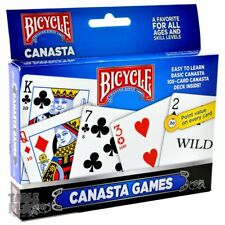 Bicycle 2-Pack Canasta Card Games Standard Each Card Features Point Value