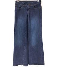 Jennifer Lopez Jeans Womens size 2 Dark Wash Boot Cut Wide Leg Inseam 31 Stretch