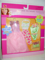 Barbie DAY TO NIGHT Fashions 3 LOOKS 2000